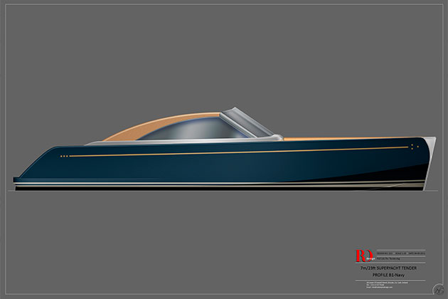 Rob Doyle Design 7m SuperYacht Tender